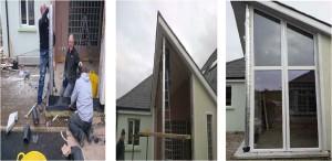 Spaceloft Aerogel Insulating steel posts and window Lintels